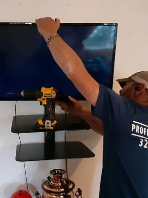 Wall-mounted television Installation